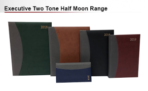 Executive two tone half moon diaries