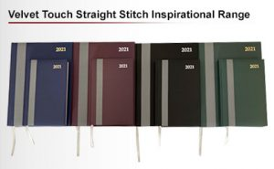 velvet straight stitched inspirational diaries